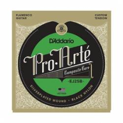 D'ADDARIO EJ-25B FLAMENCO BLACK NYLON COMPOSITE