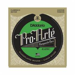 D'ADDARIO EJ-25C FLAMENCO CLEAR NYLON COMPOSITE